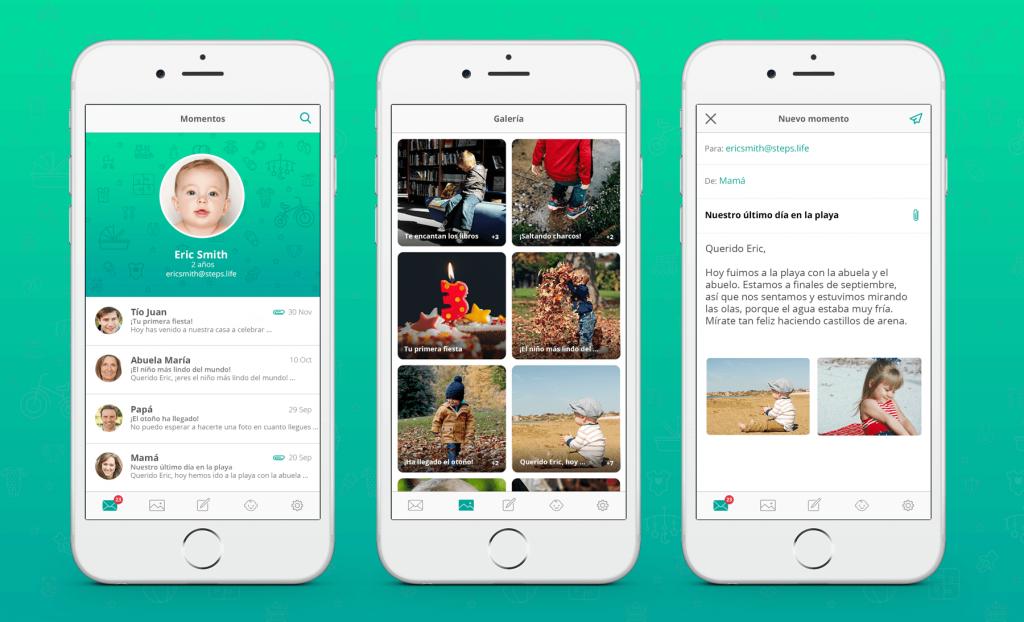 Presentamos StepsLife, una app que guarda los recuerdos de los bebés